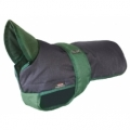 Outhwaite Blue Green underbelly padded coat 10&quot;